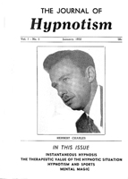 NGH Journal of Hypnotism -  January 1952 - Herbert Charles