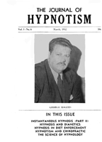 NGH Journal of Hypnotism - March 1952 - George Rogers