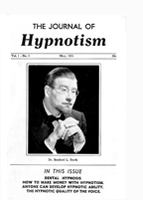 NGH Journal of Hypnotism - May 1951 - Dr. Rexford L. North