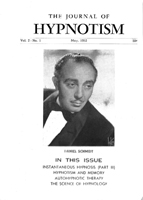 NGH Journal of Hypnotism - May 1952 - Daniel Schmidt