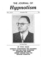 NGH Journal of Hypnotism - November 1951 - Dr. Bruno Furst