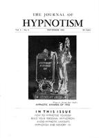 NGH Journal of Hypnotism - November 1952 - Hypnotic Awards of 1952