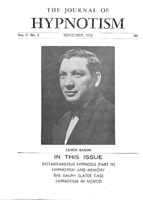 NGH Journal of Hypnotism - September 1952 - Edwin Baron